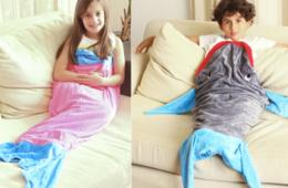 $29 for Mermaid Tail or Shark Blanket - FREE Shipping - Makes a Great Holiday Gift! (37% Off)