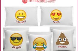 $9.99 for Personalized Emoji Pillow Case or Cushion Cover - Pick Your Favorite Emoji! (67% Off)