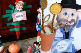 $8 for Holiday Elf Tricks OR NEW! Mensch Tricks Plus BONUS Wine Labels - Printable Kit from Print Your Party (60% Off)