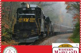 $20+ for Western Maryland Scenic Railroad HOLIDAY LIMITED TRAIN Ticket - Santa on the the Train in November & December! (Up to 56% Off)