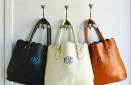 $26 for Custom Monogram Scallop Tote in 7 Colors (57% Off)