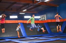 Two One-Hour Jump Passes including SkySocks or Jump Around Party Package at Sky Zone