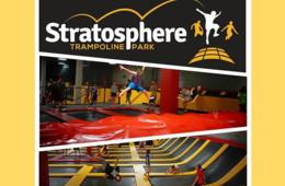 $10+ for One-Hour Stratosphere Trampoline Park Open Jump Session in Eldersburg - KIDS 3 & UNDER FREE with Adult! (Up to 34% Off)