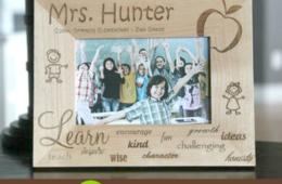 $19 for Personalized Laser Engraved Teacher Frame from Qualtry (53% Off)