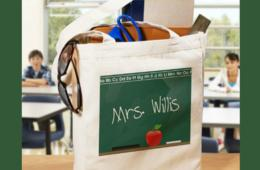 $9.99 for One Personalized Canvas Teacher Tote Bag OR $19.99 for TWO Tote Bags - 14 Designs For Your Favorite Teacher! (50% Off)