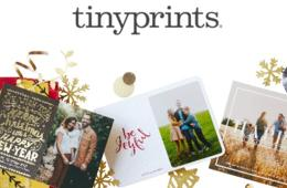 Save Up to 40% on Tinyprints Holiday Cards, Invitations & Gifts + FREE Shipping!