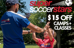 $15 Off Super Soccer Stars Camps & Classes