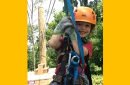 $29+ for Adult & Kid's Zip Lining Packages - Jumping Pillow, Pumpkin Painting and Hot Chocolate for Kids at Harpers Ferry Adventure Center ($29 Value - 41% Off)