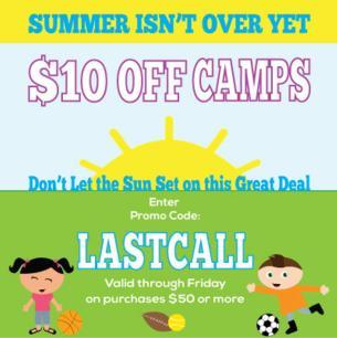 $10 Off Camp Promo DC