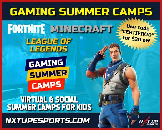 NXT UP Esports Video Game Summer Camps