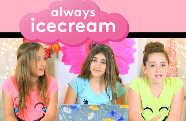 Always Icecream: Learn & Play for Girls