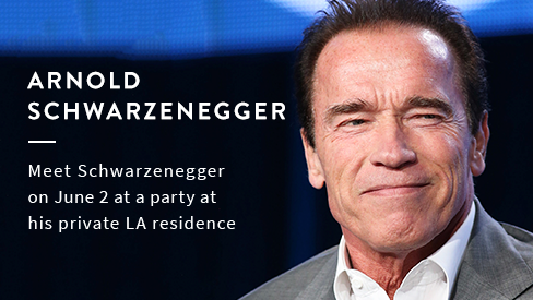 Meet Arnold Schwarzenegger on June 2 at a Party at His Private LA Residence