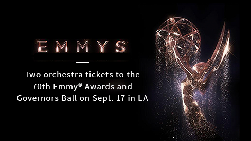2 Orchestra Tickets to the 70th Emmy® Awards and Governors Ball on September 17 in LA