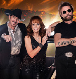 Reba McEnire, Kix Brooks and Ronnie Dunn
