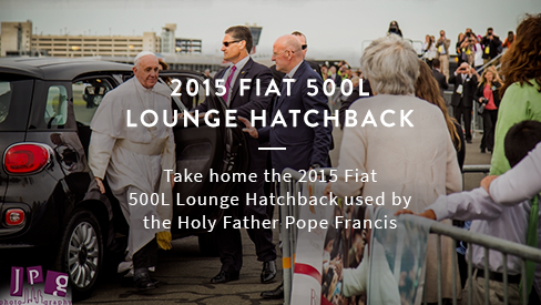 2015 Fiat 500L Lounge Hatchback Used by the Holy Father Pope Francis