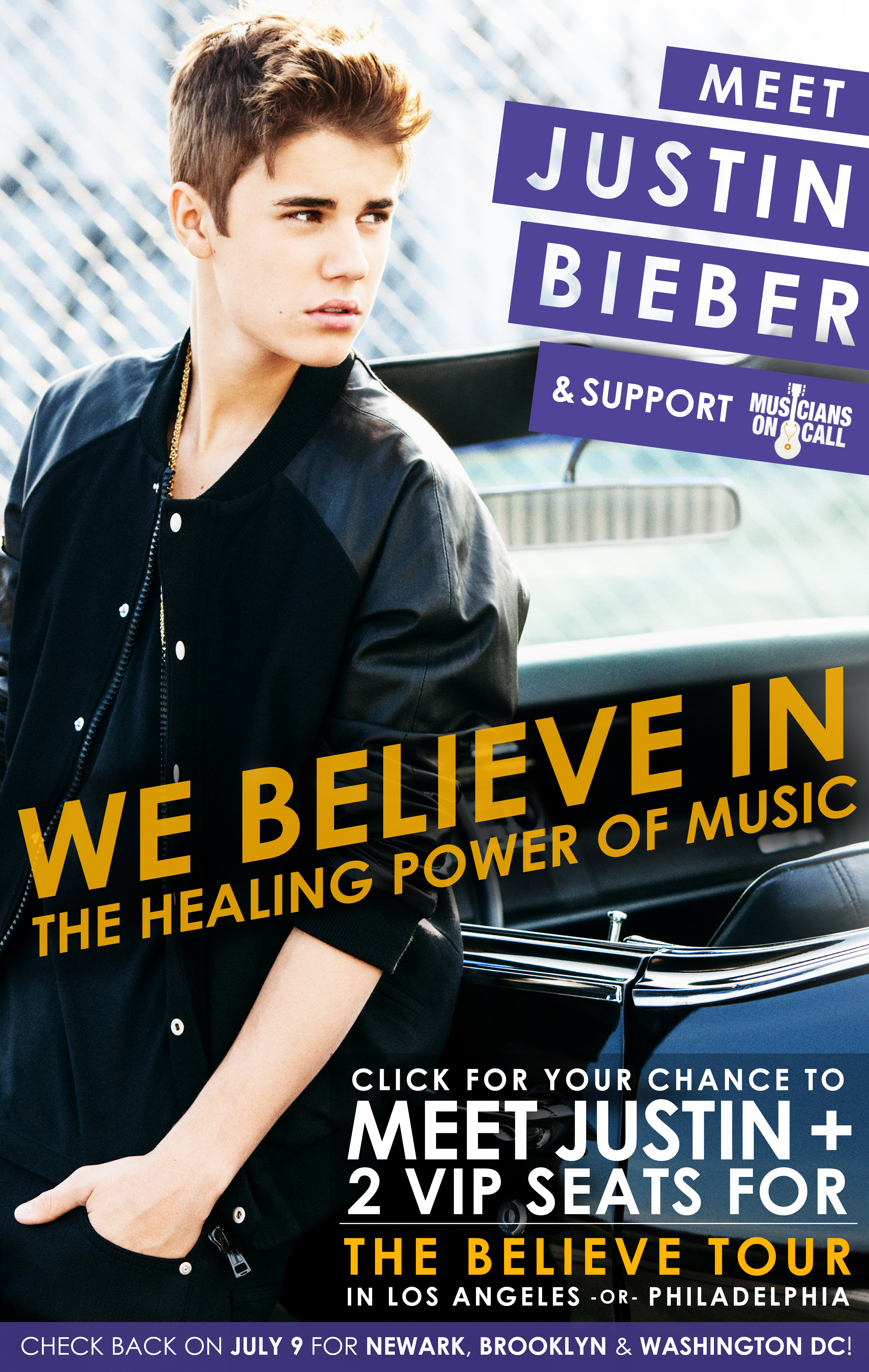 Charitybuzz Meet Justin Bieber Plus 2 Great Seats For His June 24