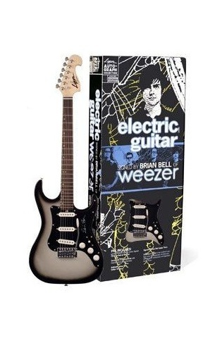 charitybuzz limited edition autographed electric guitar from weezer 39 s lot 369204. Black Bedroom Furniture Sets. Home Design Ideas