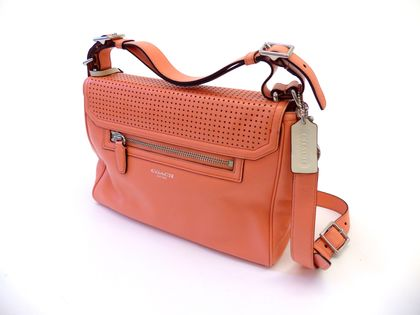 Charitybuzz: Legacy Perforated Leather Romy Satchel from ...