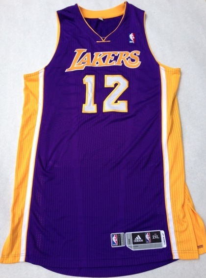 outlet store 4e096 d414f Charitybuzz: 2012-2013 Dwight Howard Lakers Authentic Game ...