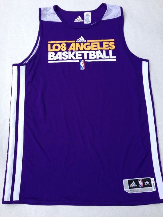 7c1fc2719 Youth Los Angeles Lakers adidas Purple Practice ClimaLITE Long Sleeve T- Shirt Charitybuzz 2012-2013 Dwight Howard Lakers Authentic Game Wo ADIDAS  NBA ...