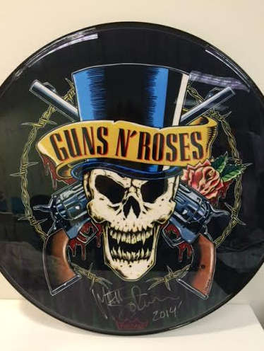 Authentic Guns N Roses Drum Head Autographed By Matt Sorum