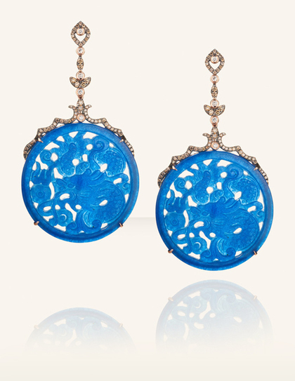 charitybuzz dazzle in a pair of jade amp diamond quotblue