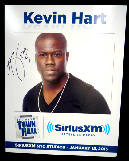 Charitybuzz: Kevin Hart Autographed SiriusXM Town Hall ...