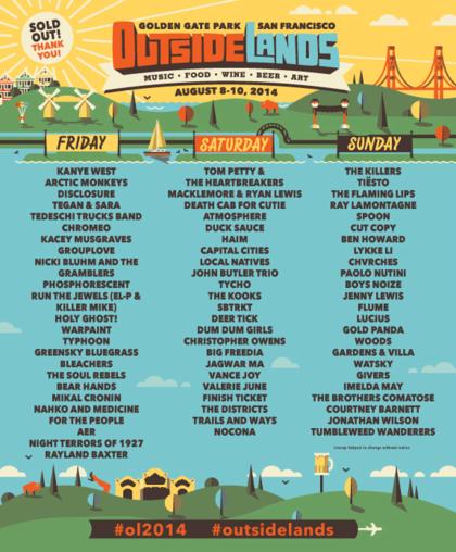 Outside Lands Music and Arts Festival San Francisco ...