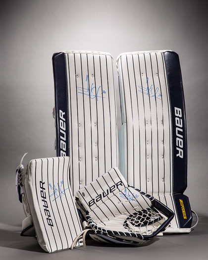 Charitybuzz Limited Edition Autographed Henrik Lundqvist Pads From