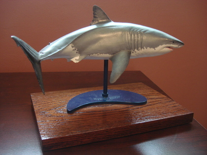 Charitybuzz Great White Shark Sculpture Signed By Artist