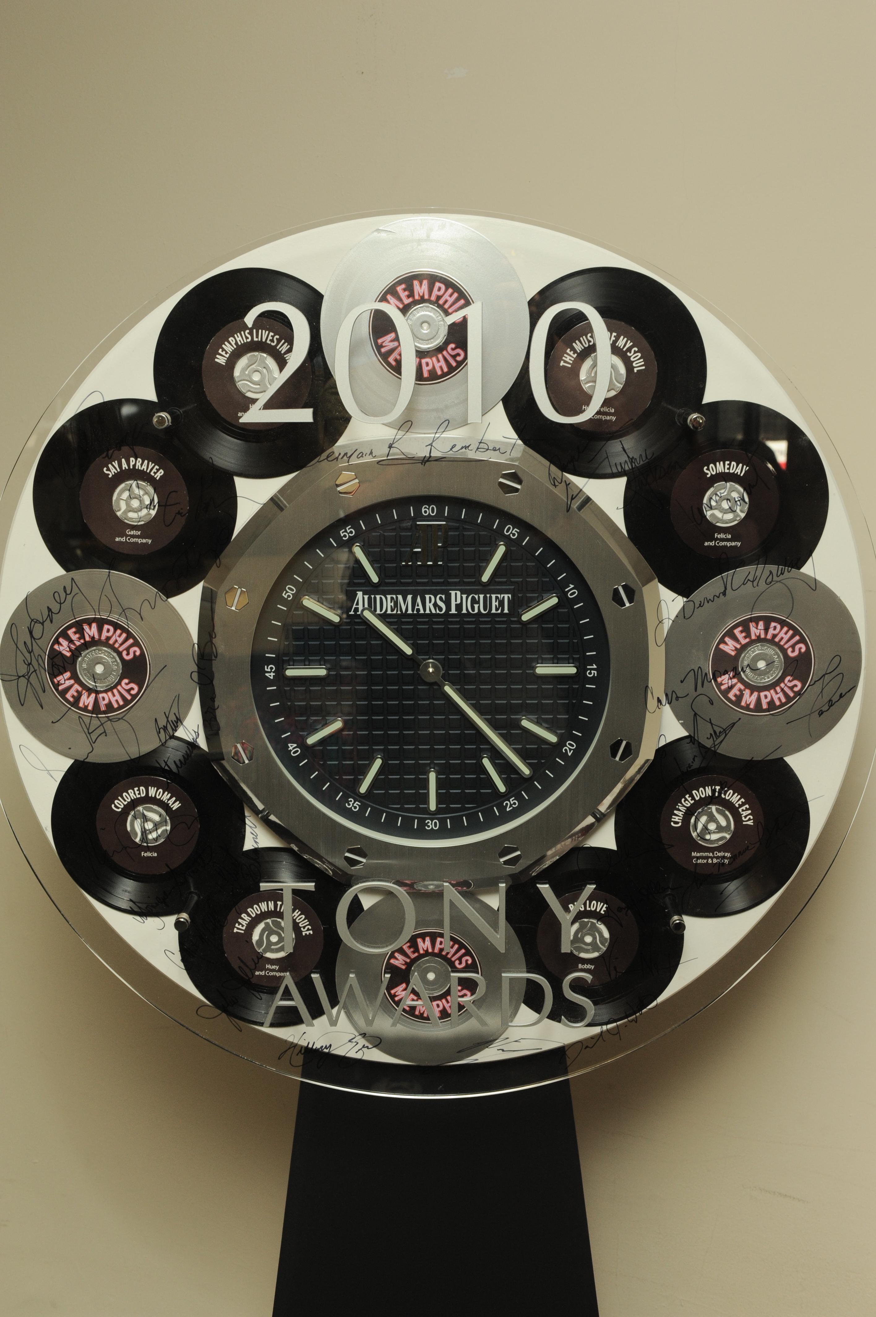 Charitybuzz Audemars Piguet Autographed Memphis Wall Clock Lot 212907