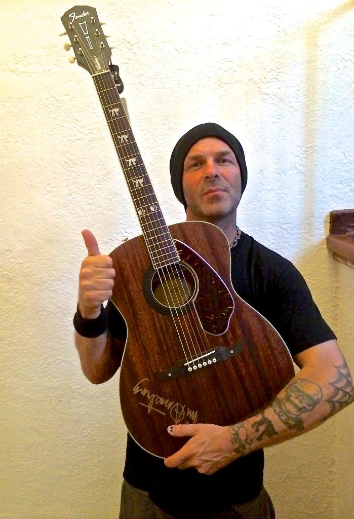 charitybuzz take home a signed tim armstrong hellcat guitar from fender lot 631804. Black Bedroom Furniture Sets. Home Design Ideas