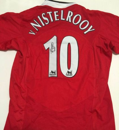 the latest c6b7a c9b45 Charitybuzz: Ruud van Nistelrooy Signed Manchester United ...