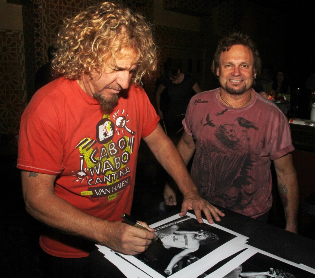 Charitybuzz sammy hagar 1978 limited edition photograph signed detail kristyandbryce Choice Image