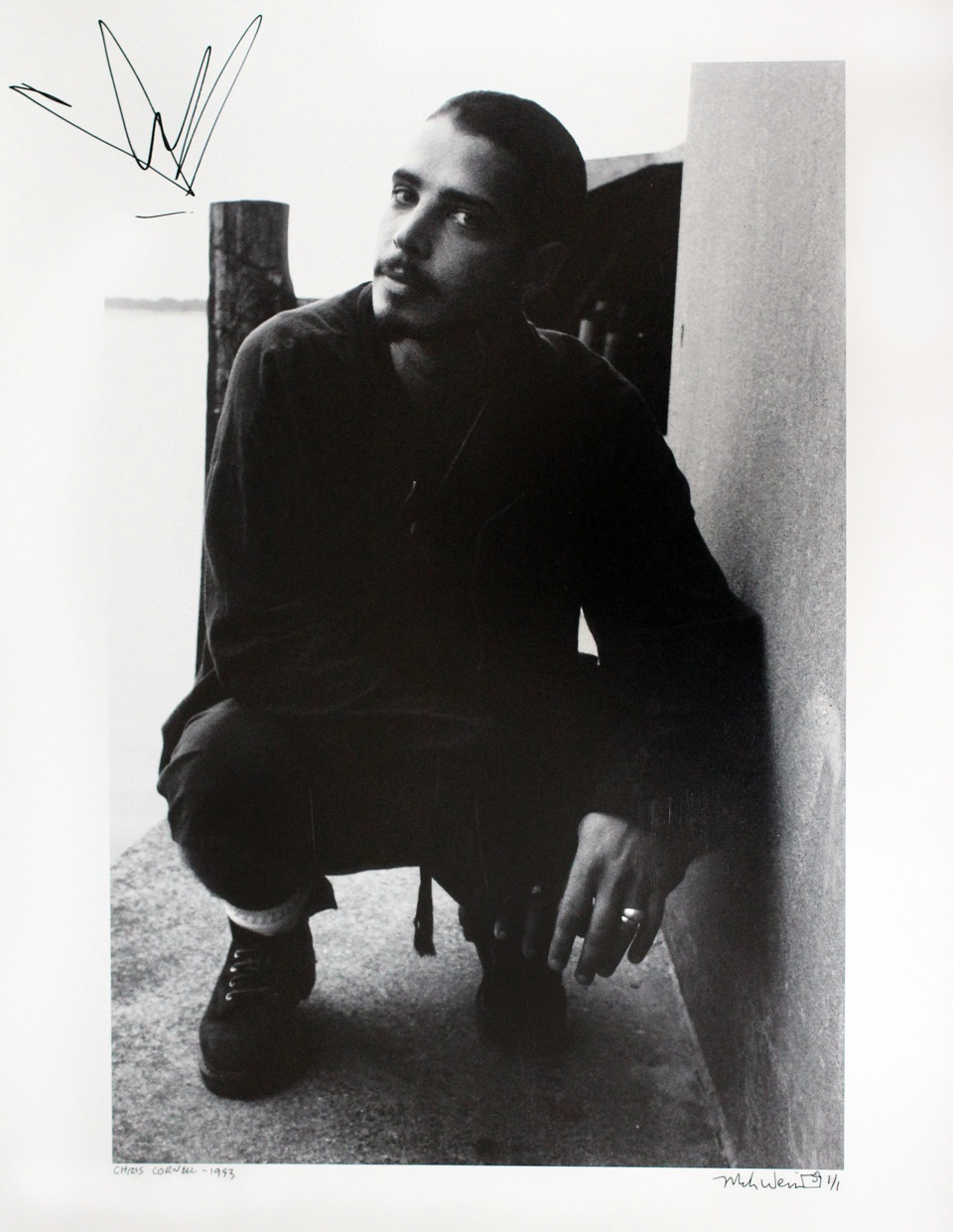 Charitybuzz chris cornell 1993 limited edition photo signed by detail kristyandbryce Images