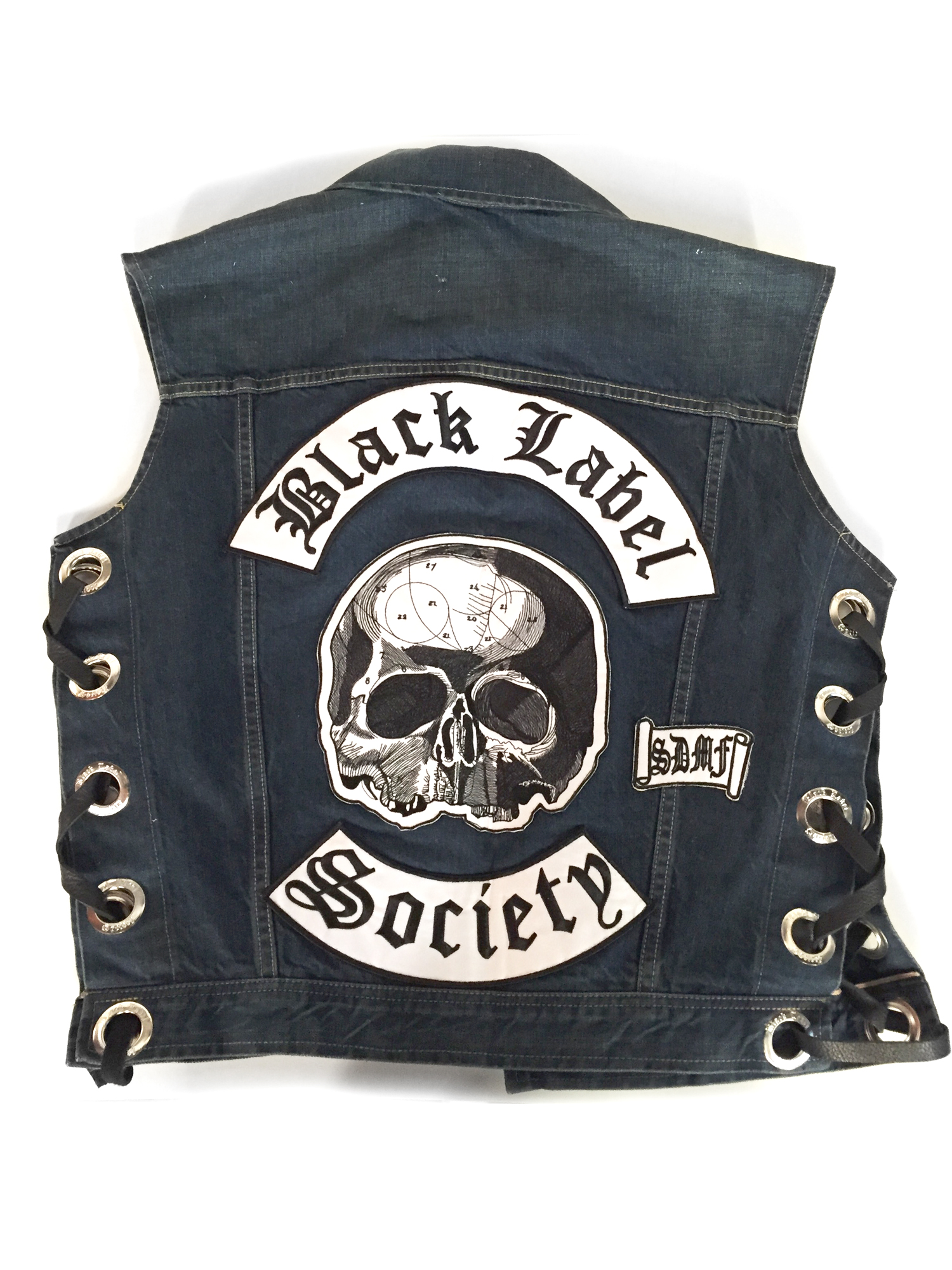 Black label society leather jacket