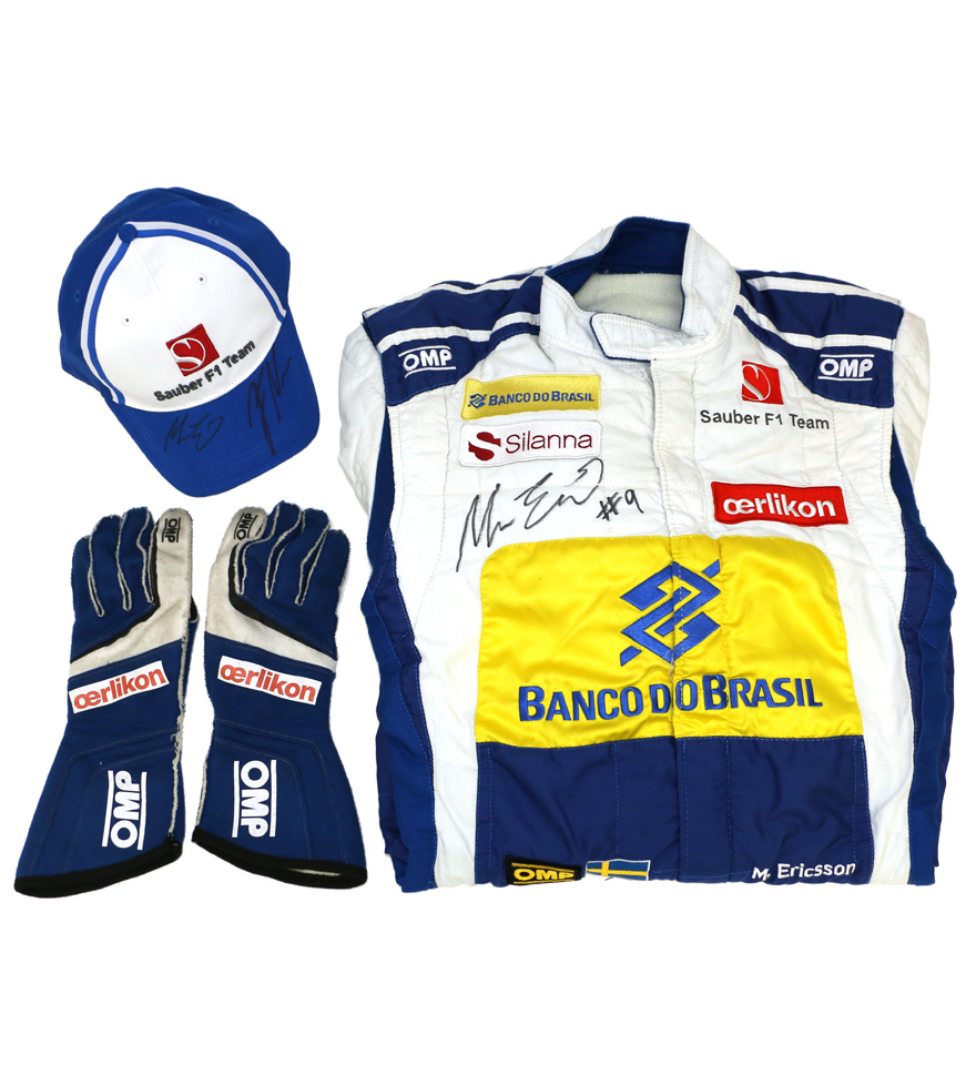 charitybuzz sauber f1 team signed racing suit lot 741105. Black Bedroom Furniture Sets. Home Design Ideas