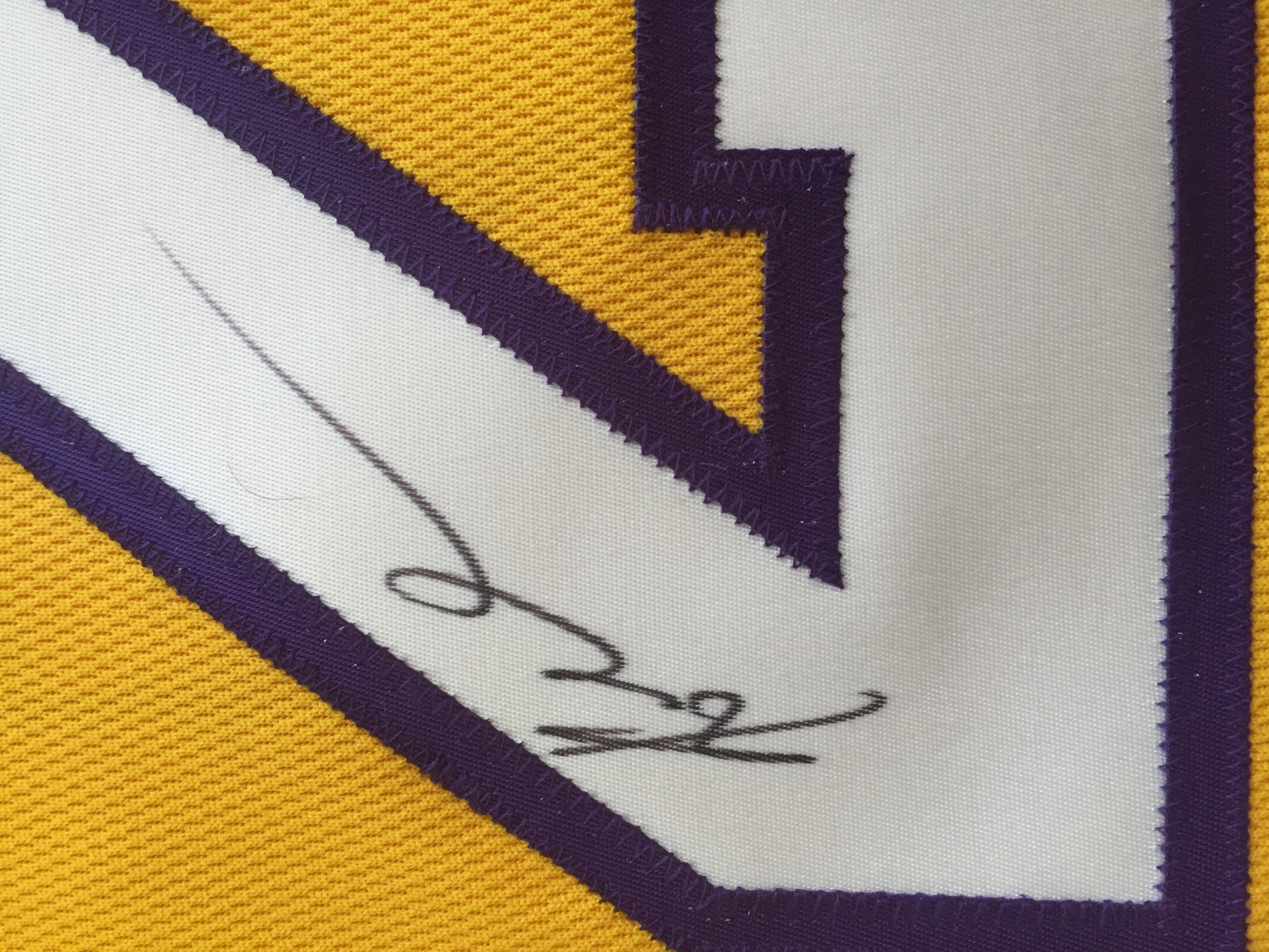 Authentic Los Angeles Lakers Jersey Signed by Kobe Bryant. Your bid  supported  The Heads Up Youth Foundation Inc. Original. Original. Original.  Original 2fd8b253c