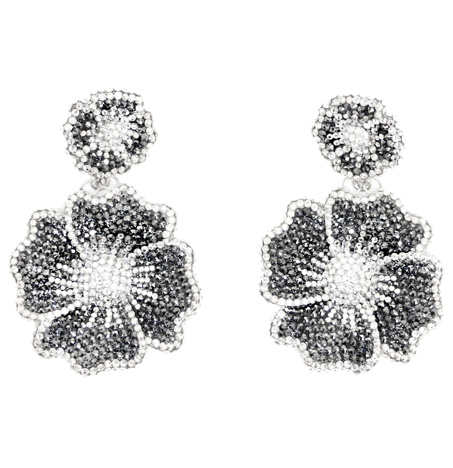 back flower earrings earring feminine pin large and