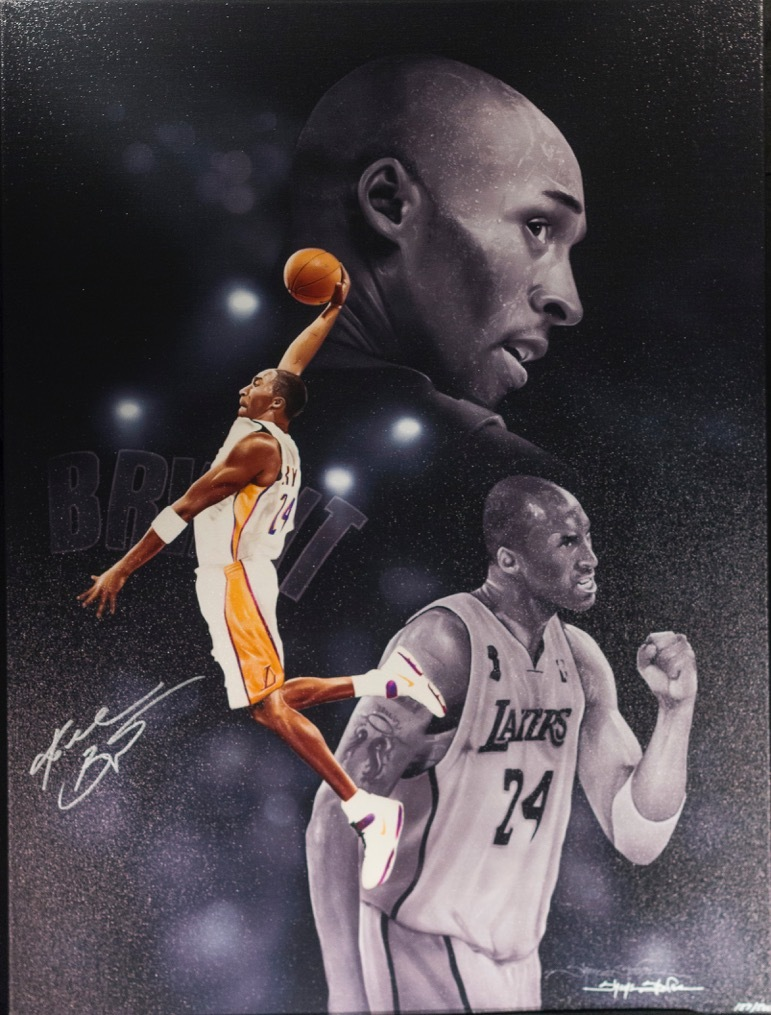 Charitybuzz  Los Angeles Lakers Canvas Signed by Kobe Bryant - Lot ... dd689a720
