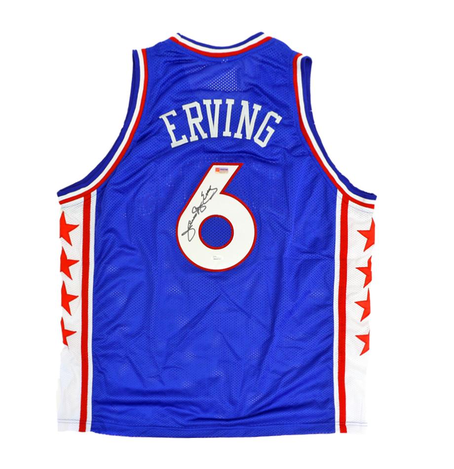3e4d1ef6 Julius Erving Signed Philadelphia Sixers Throwback Jersey Inscribed
