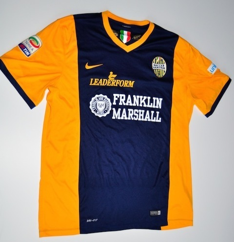 Charitybuzz luca toni serie a 2014 2015 match worn hellas for Uniform verona