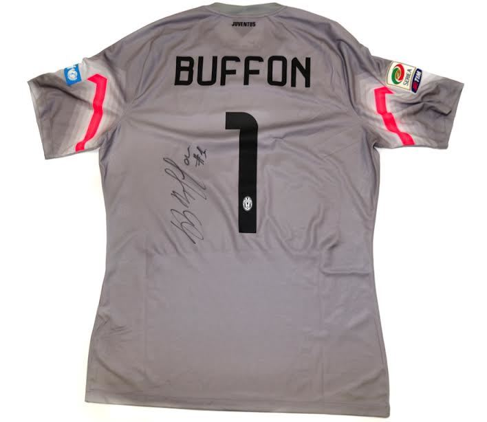 new product 22f70 deea1 Charitybuzz: Gianluigi Buffon Serie A 2014/2015 Match-Worn ...