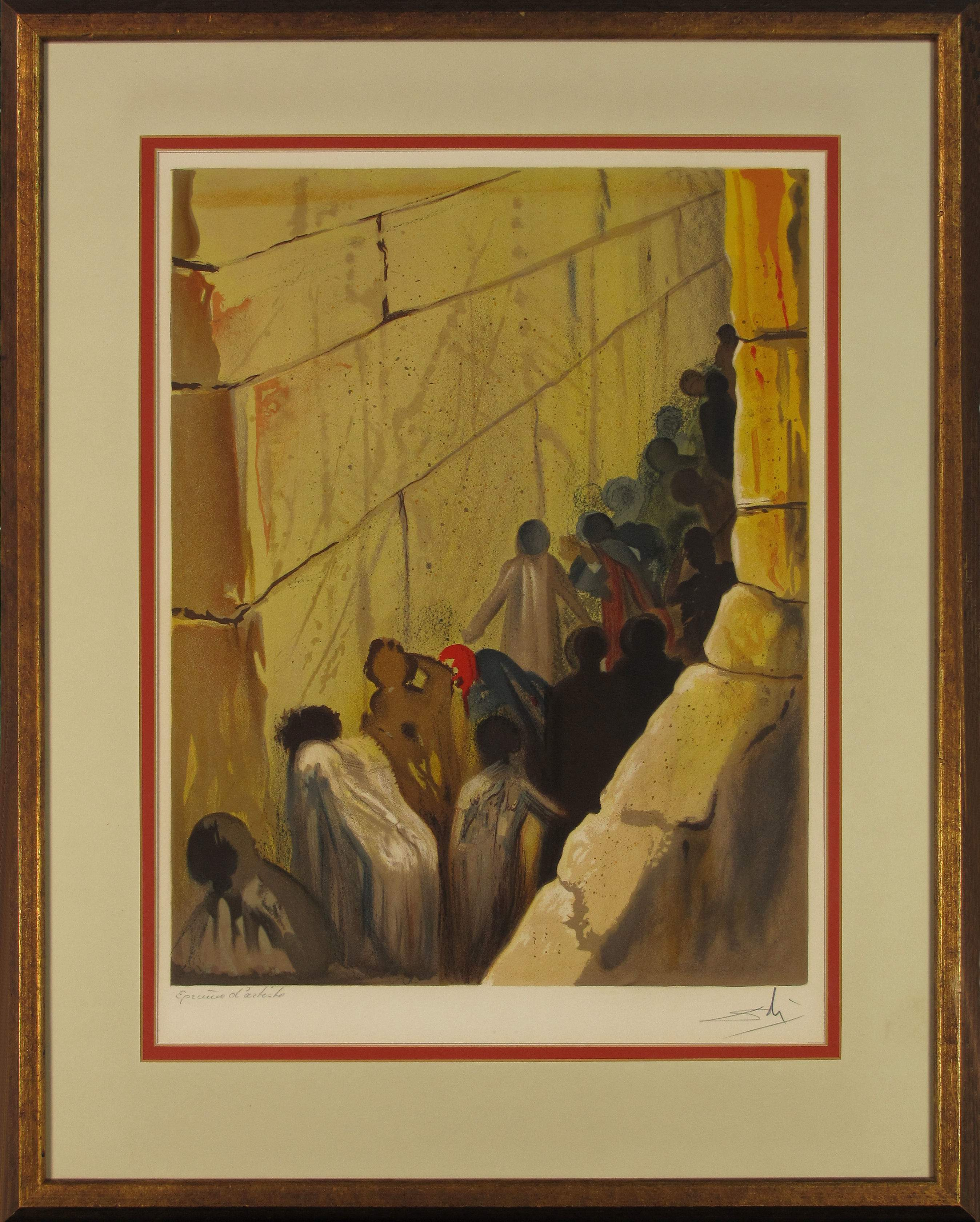 Charitybuzz: The Wailing Wall, 1968 Salvador Dalí Hand-Signed ...