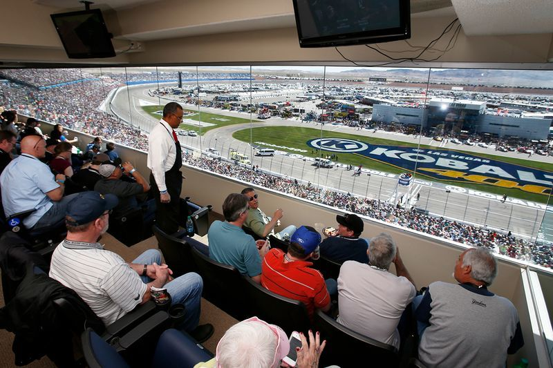 Charitybuzz vip nascar experience for 48 people at the for Las vegas motor speedway open track days