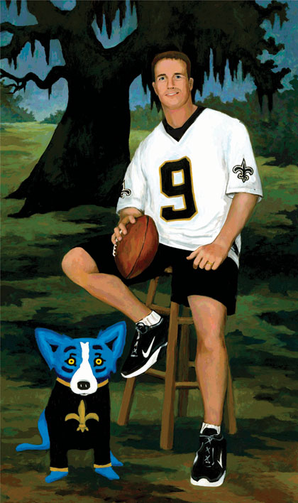 Charitybuzz Drew Brees By George Rodrigue Lot 251423