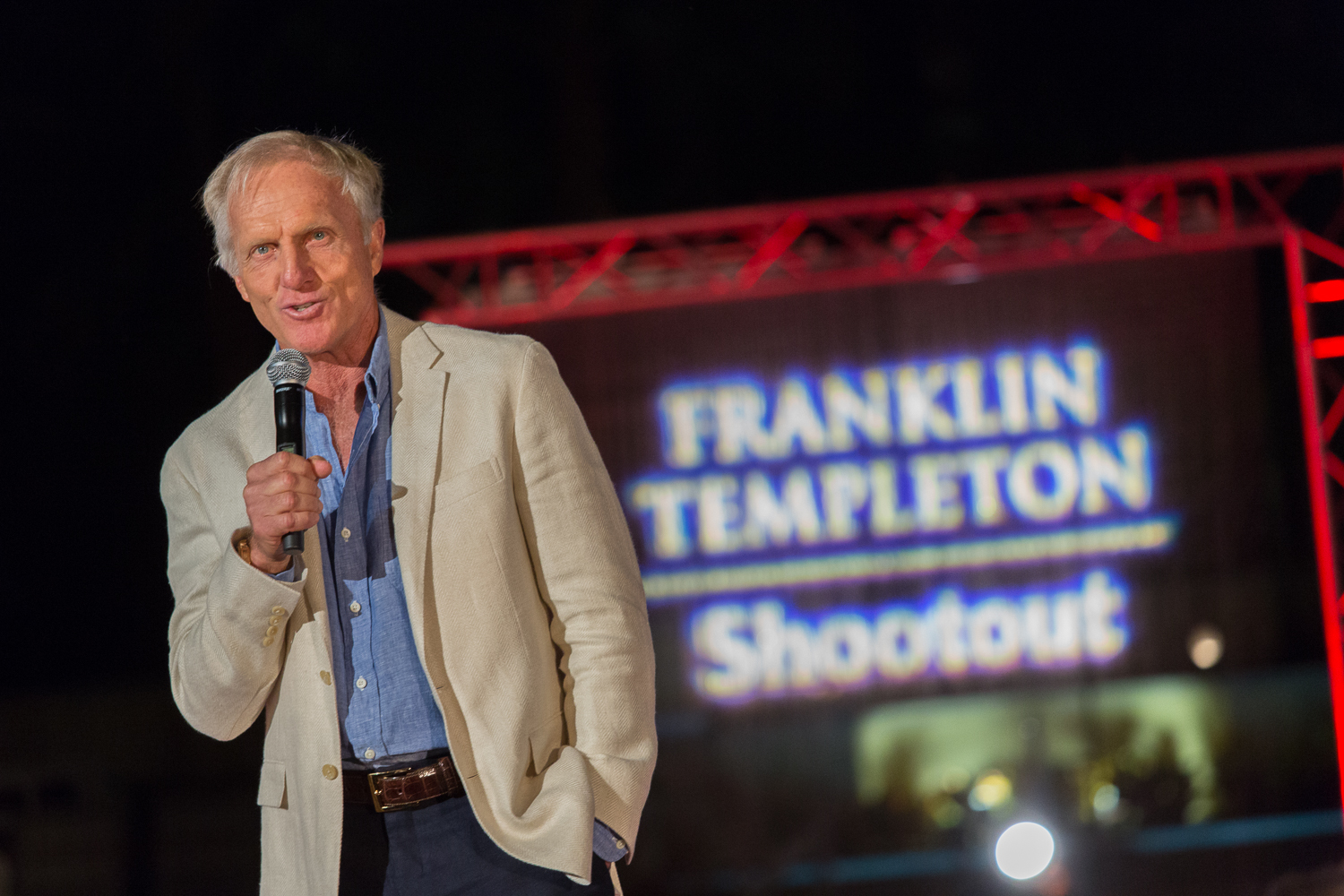 franklin templation - charitybuzz meet greg norman when you attend the franklin