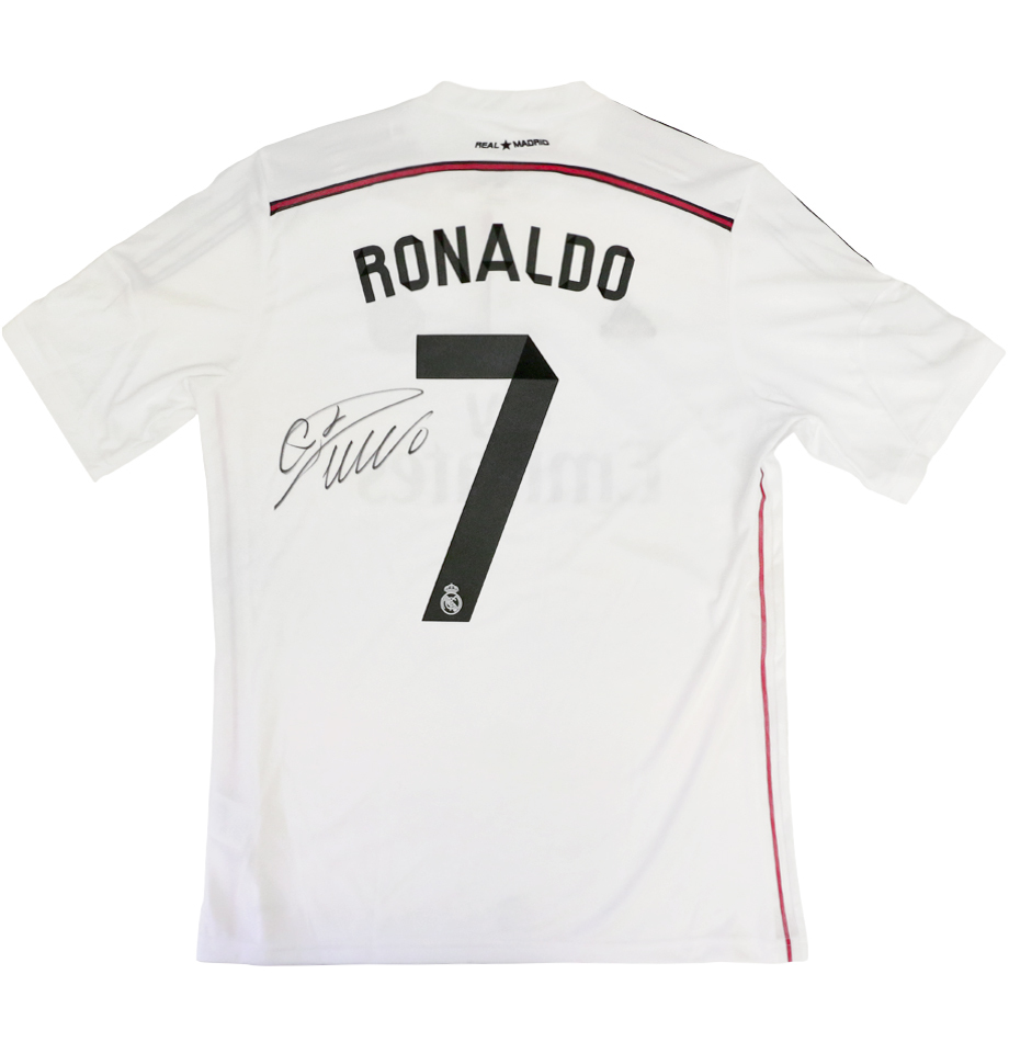sports shoes 0c065 d5150 Autographed Cristiano Ronaldo Real Madrid Jersey