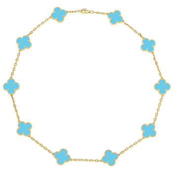 896f9c7e5a Delight her with this Turquoise Alhambra Necklace from Van Cleef   Arpels