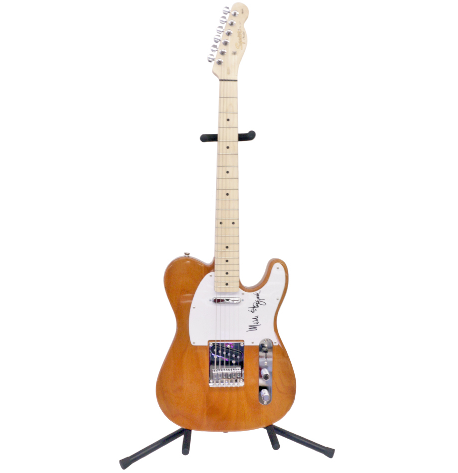 Merle Haggard Signed Squier/Fender Affinity     - Charitybuzz